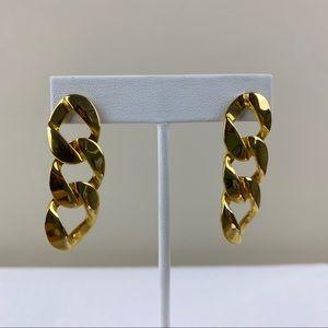 Vintage Goldtone Chain Link Earrings